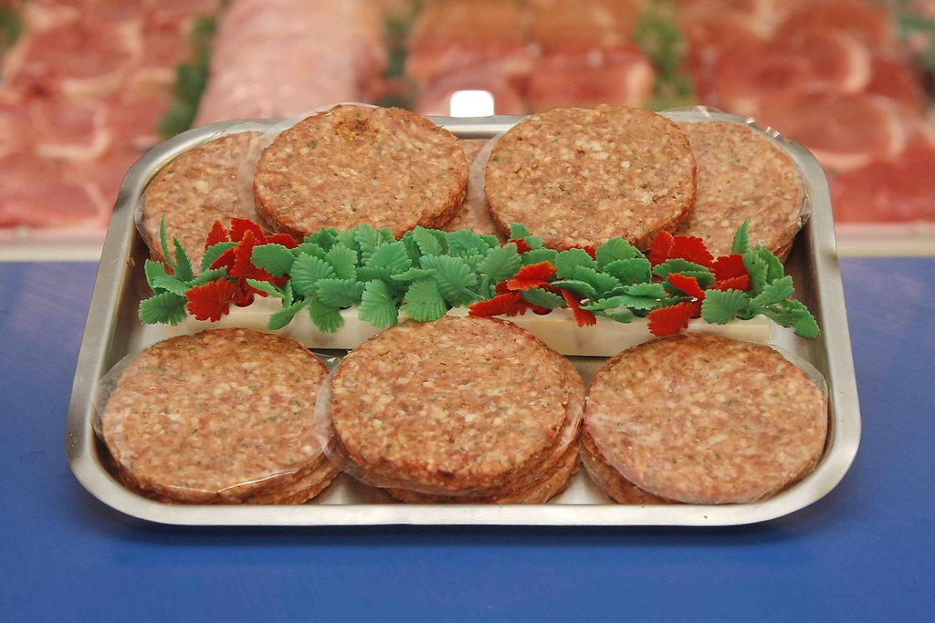 HOME MADE PORK AND APPLE BURGERS Image